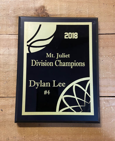 Basketball Plaque - Engraved Effects