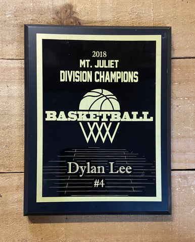 Custom Basketball Plaque - Engraved Effects