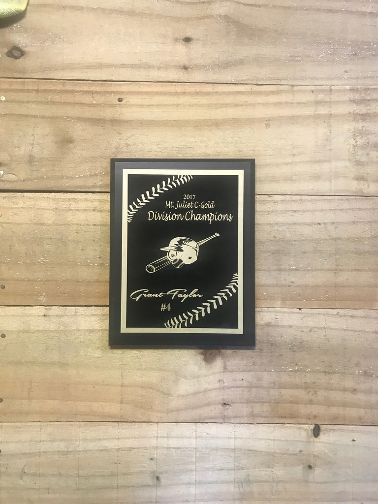 Baseball Plaque Award - Engraved Effects