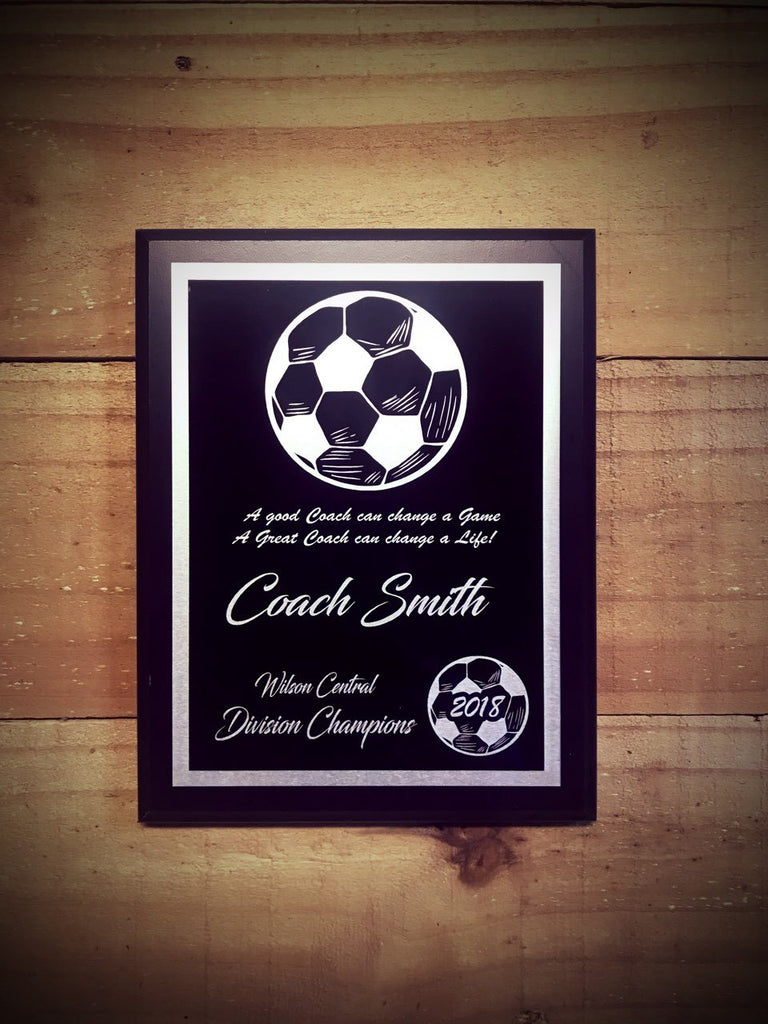 Soccer Plaque Award D1 - Engraved Effects