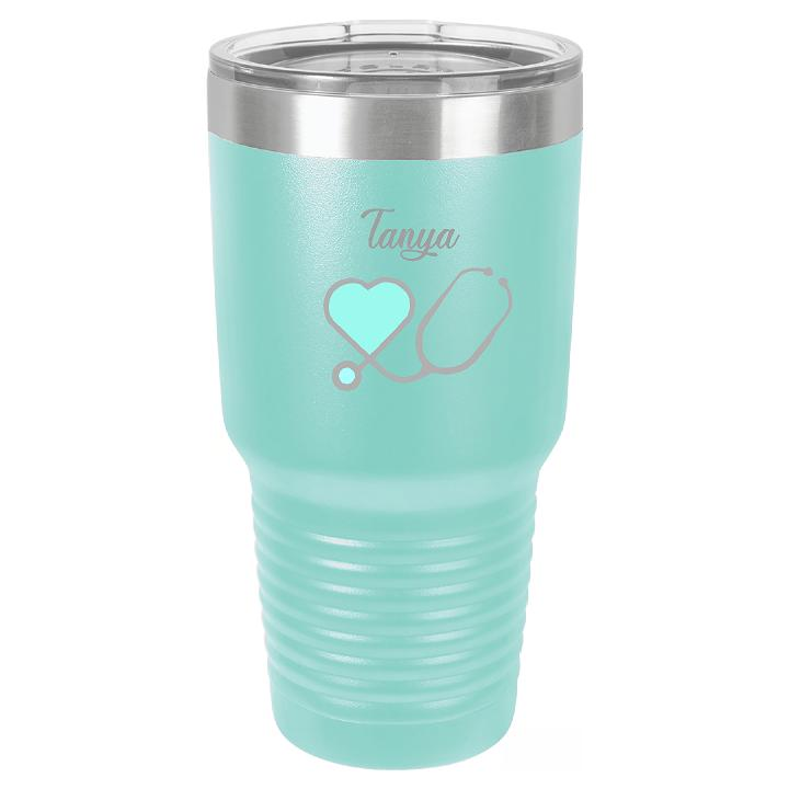 Personalized Nurse Cup Tumbler - Engraved Effects