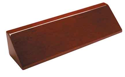Piano Finish Desk Wedge - Engraved Effects