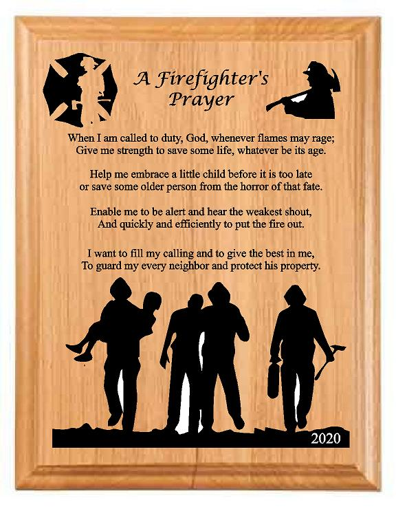 Firefights Prayer D1 - Engraved Effects