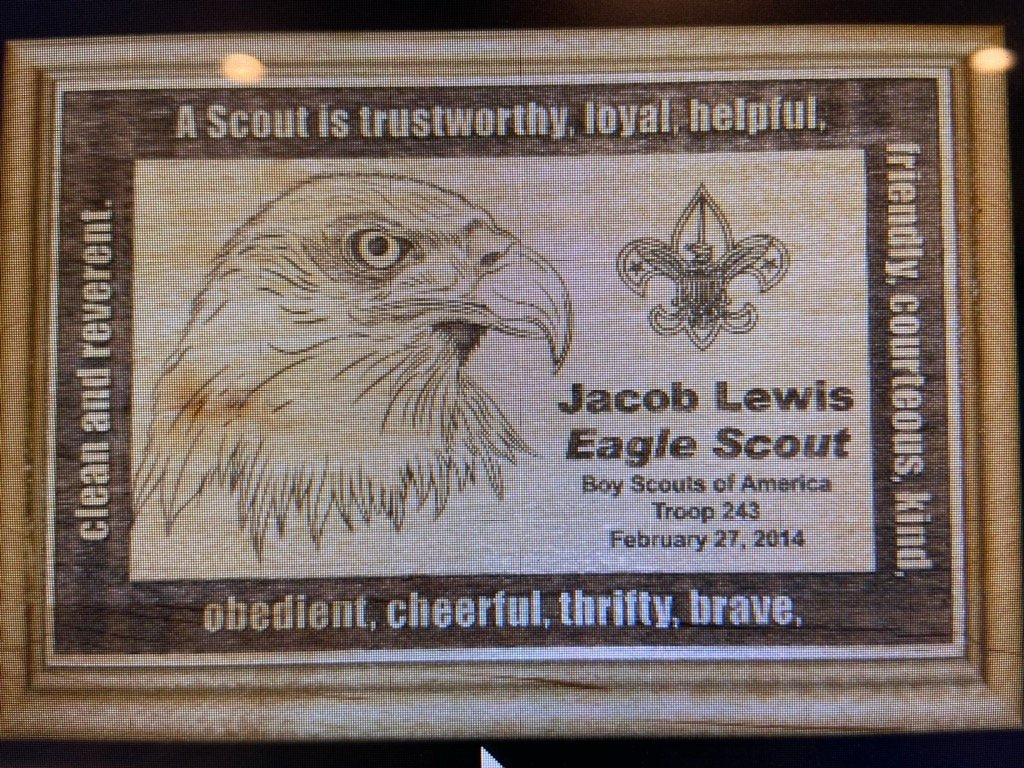 Eagle Scout Red Alder Wood Plaque D1 - Engraved Effects