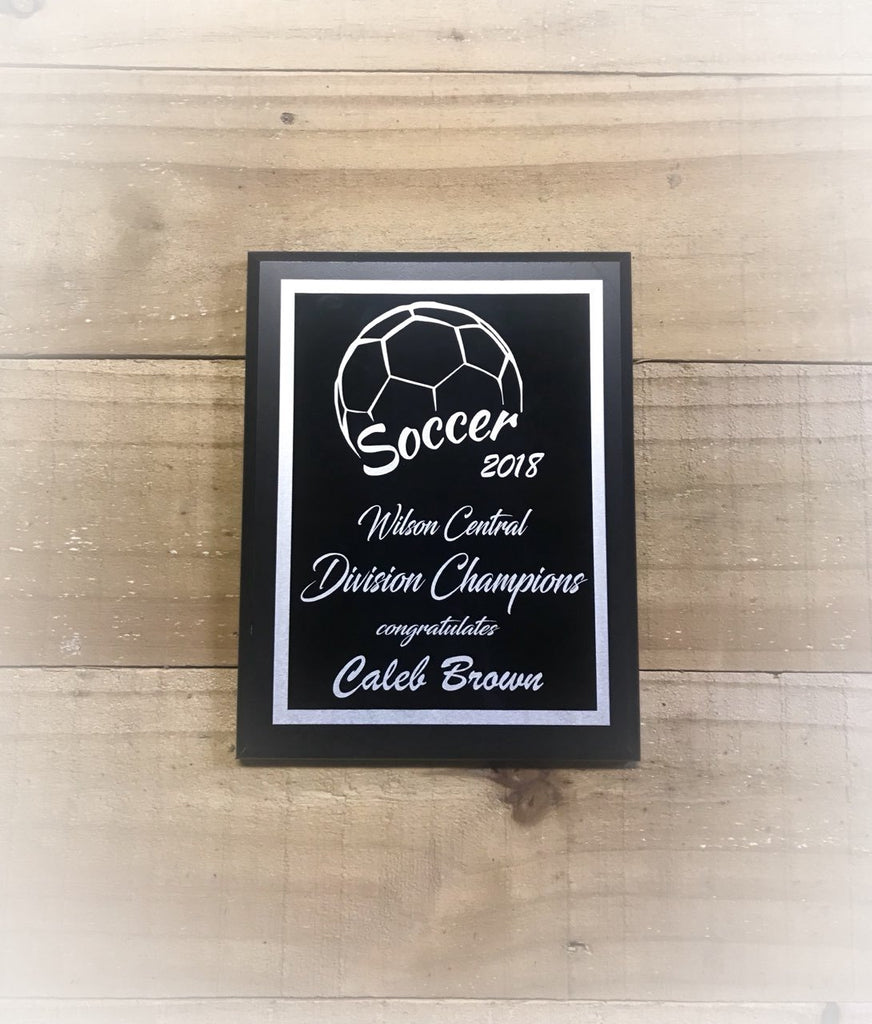 Soccer Player Plaque Award D2 - Engraved Effects
