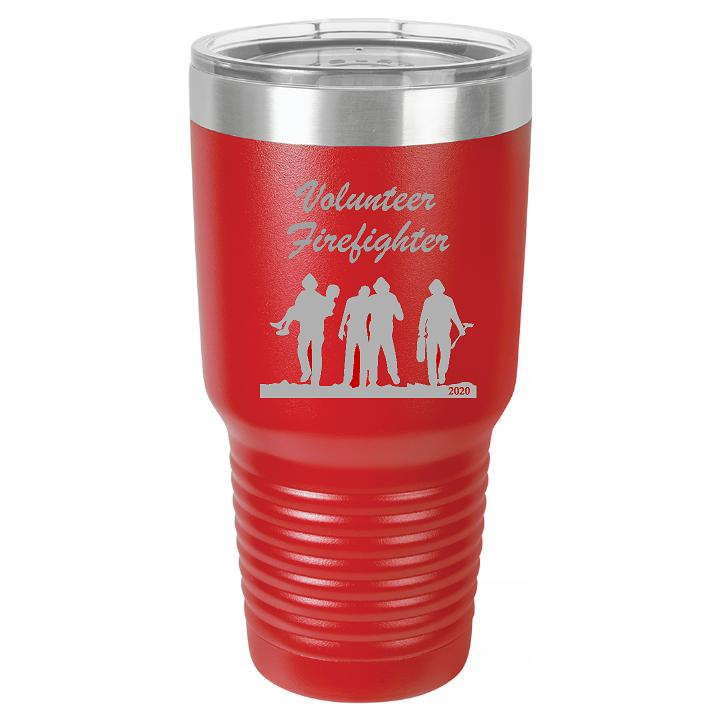 Volunteer Firefighter Tumbler Cup - Engraved Effects