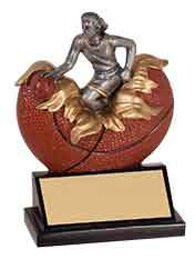 Girls or Boys Basketball Resin Trophy - Engraved Effects