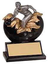 Bowling Award  Trophy for Men or Women - Engraved Effects