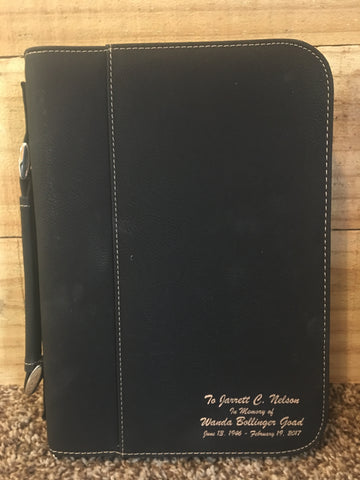 Personalized Leather Bible Cover - Engraved Effects