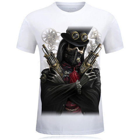 Black Skull 3D T-shirt - Bluebubbly