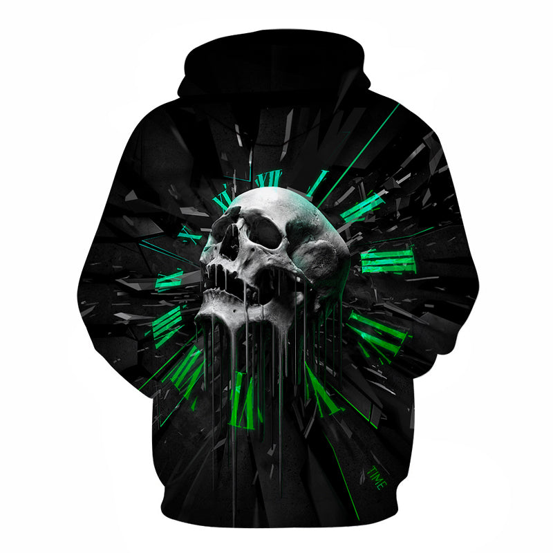 Psychedel 3D Print Skull Hoodies - Bluebubbly