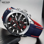 Megir Men's Chronograph Analog Quartz Watch - Bluebubbly