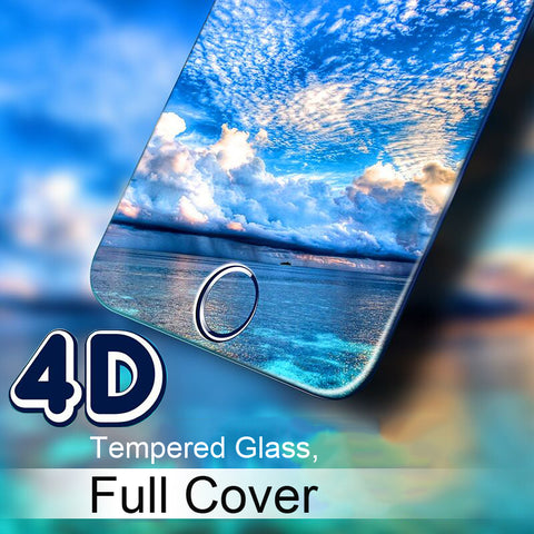 4D Full Cover Tempered Glass for iPhone