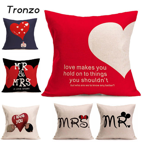 Cartoon Romantic Pillow - Bluebubbly