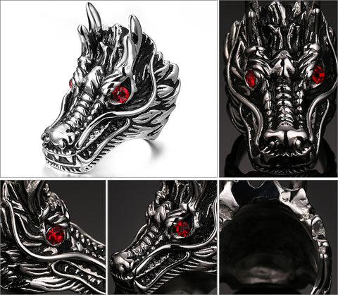 Ring Dragon Head
