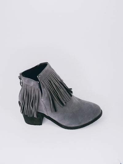 FRINGE GREY BOOTIES