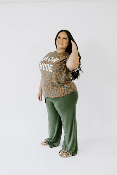 CURVY CUTE & COZY LOOSE FIT DRAWSTRING PANTS