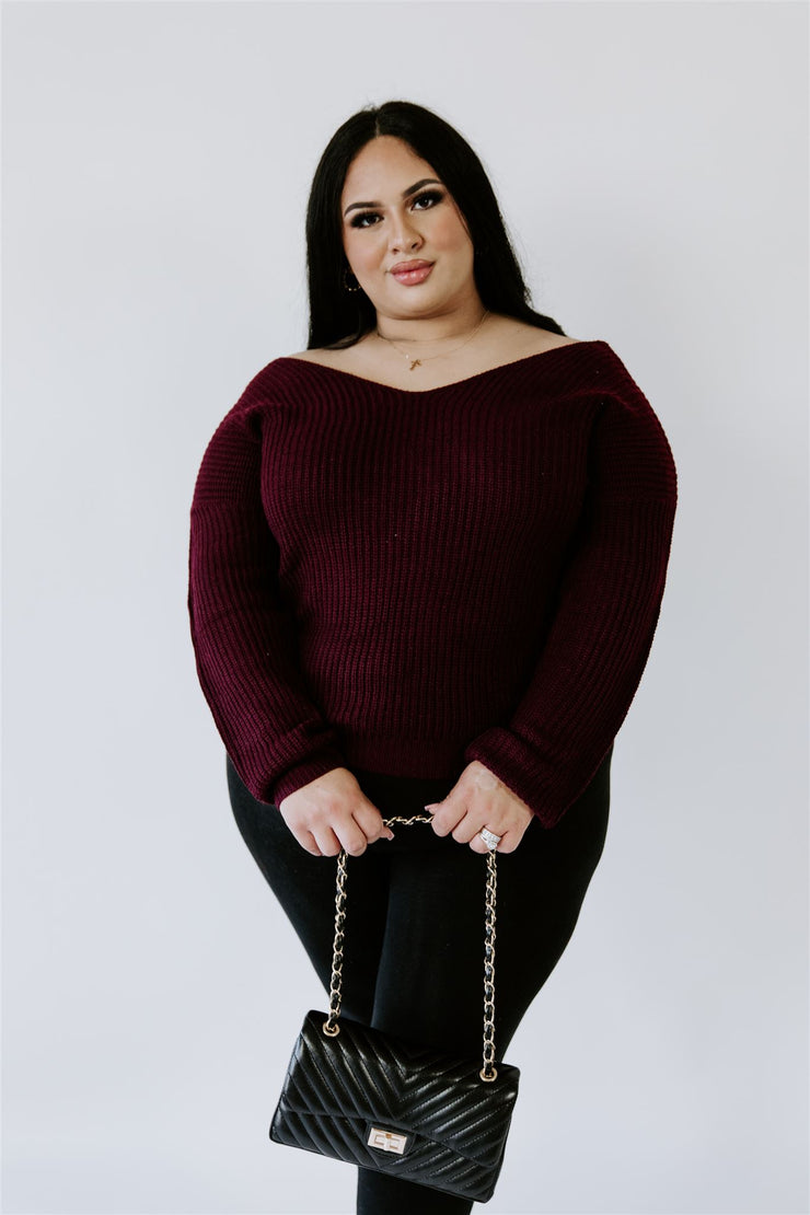 CURVY TANGLED UP IN YOU KNITTED SWEATER