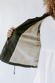 CURVY FUREVER YOURS OLIVE UTILITY VEST