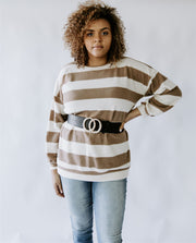 CURVY ALL ABOUT ANGIE STRIPED TUNIC