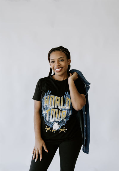 WORLD TOUR OR YOUR GIRLS TOUR GRAPHIC TEE