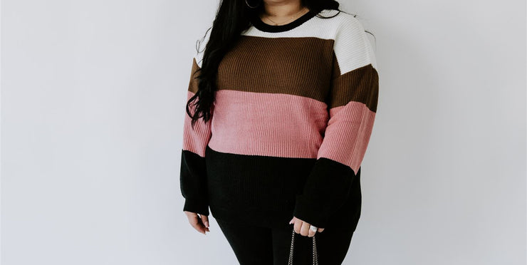 CURVY BLOCKING ALL BAD VIBES SWEATER