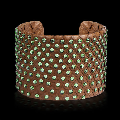 Alona New York Brown Python Cuff with Swarovski®
