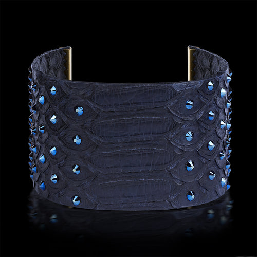 Alona New York Blue Python Clôture Bracelet with Swarovski®