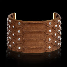 Alona New York Brown Python Clôture Bracelet with Swarovski®