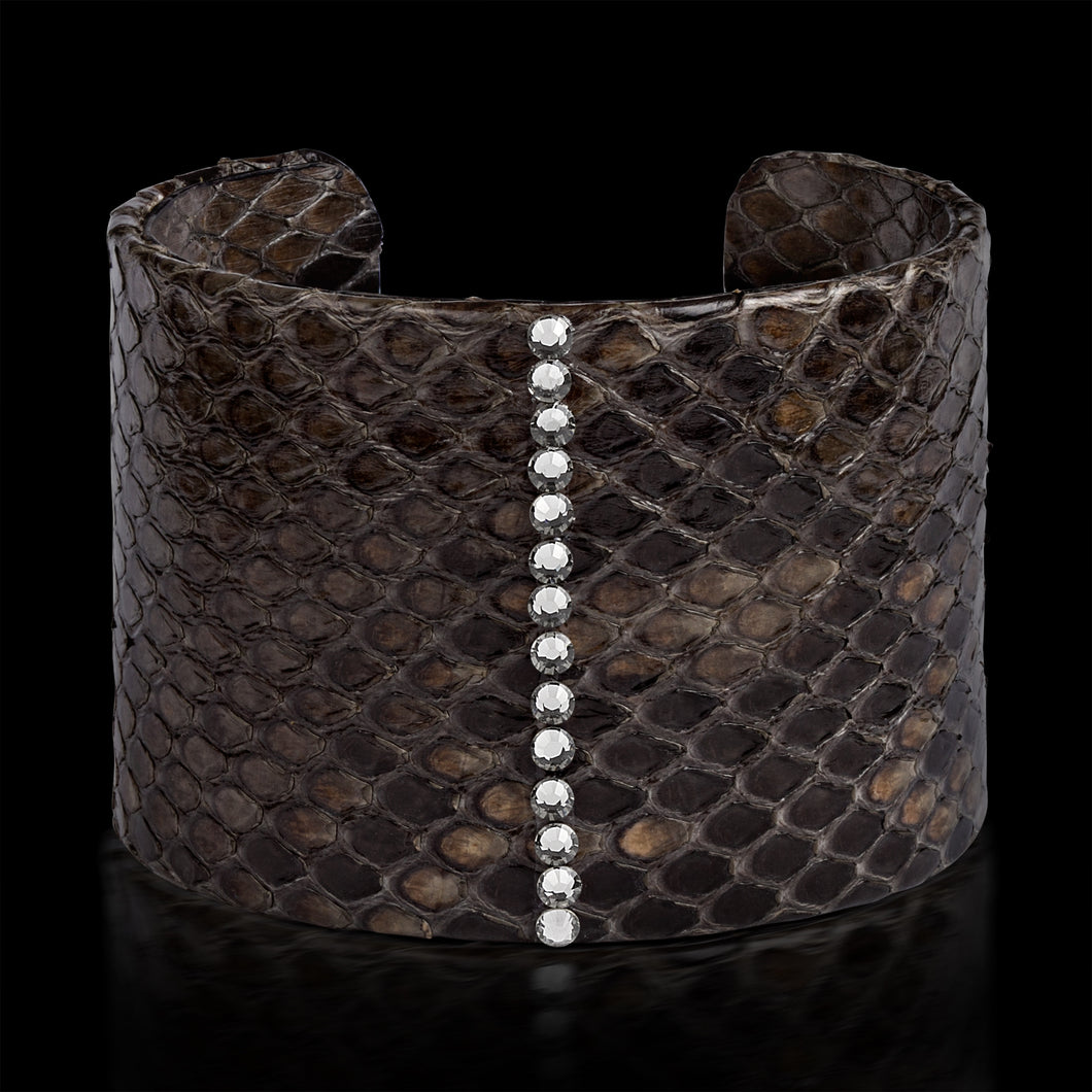 Alona New York Gray Python Cuff with Swarovski®
