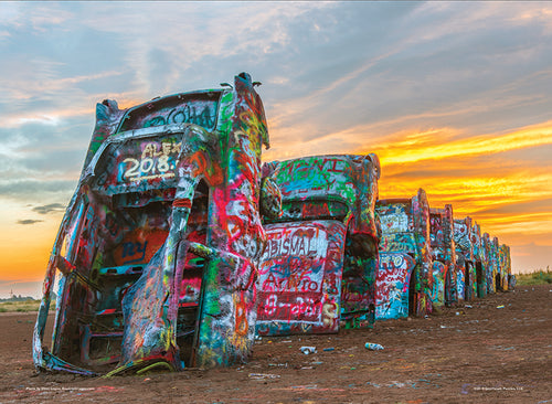 Cadillac Ranch - 500 piece premium jigsaw puzzle