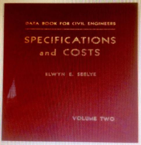 Data Book for Civil Engineers Specifications and Costs Volume 2-Books-Palm Beach Bookery
