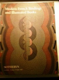 Modern French Bindings & Illustrated Friday 27 1997 Sotheby's-Book-Palm Beach Bookery