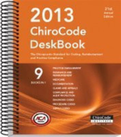 2013 ChiroCode Deskbook - By: Chirocode Institute-Books-Palm Beach Bookery