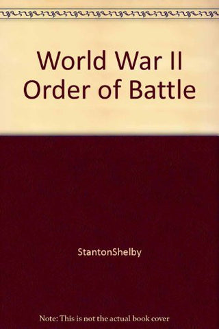 World War II Order of Battle. 1991. Hardcover.-Books-Palm Beach Bookery