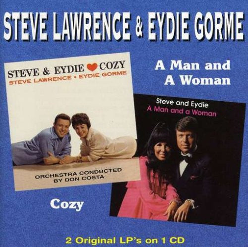 Steve Lawrence and Eydie Gorme - Cozy / Man & A Woman-CDs-Palm Beach Bookery