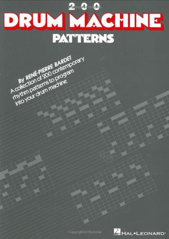 200 Drum Machine Patterns - By: Hal Leonard-Books-Palm Beach Bookery