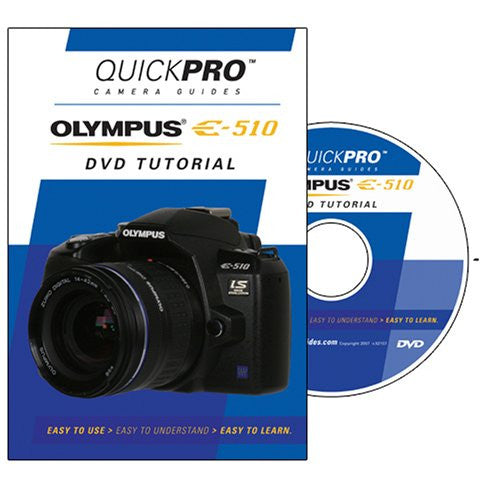 Olympus E-510 Instructional DVD by QuickPro Camera Guides-DVD-Palm Beach Bookery