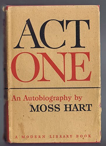 Act One - By: Moss Hart-Books-Palm Beach Bookery