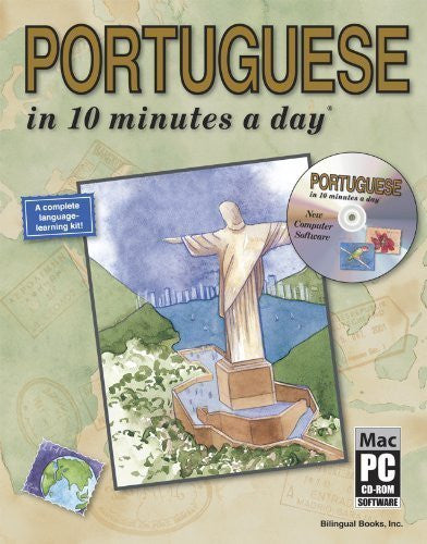 PORTUGUESE in 10 minutes a day? with CD-ROM 3rd (third) 2nd (second) prin by Kershul, Kristine K. (2007) Paperback-Book-Palm Beach Bookery