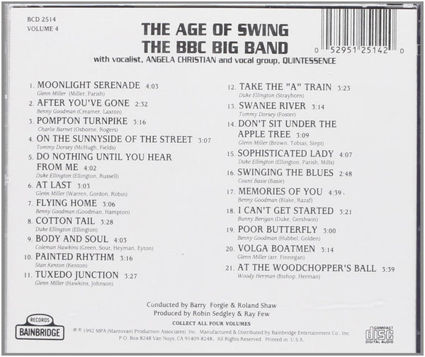 Various Artists - The Age of Swing Volume 4-CDs-Palm Beach Bookery