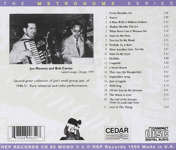 Joe Mooney Quartet - Joe Breaks The Ice-CDs-Palm Beach Bookery