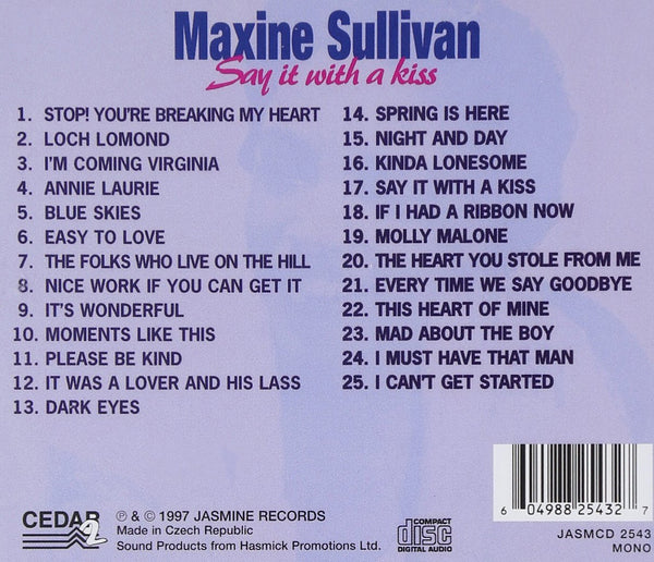 Maxine Sullivan - Say It With a Kiss-CDs-Palm Beach Bookery