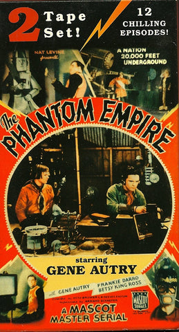 VHS box set of 2: THE PHANTOM EMPIRE... A Mascot Serial... All 12 episodes... Gene Autry... Frankie Darro...-VHS Tapes-Palm Beach Bookery