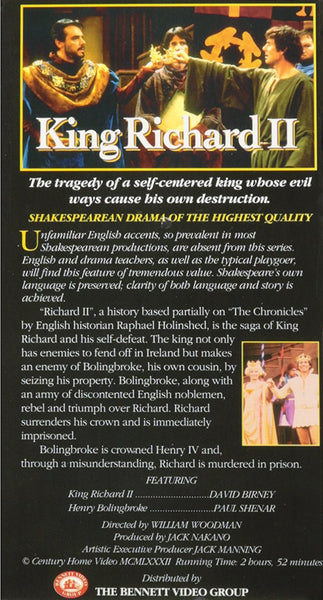 The Tragedy of King Richard II [VHS]-Video-Palm Beach Bookery