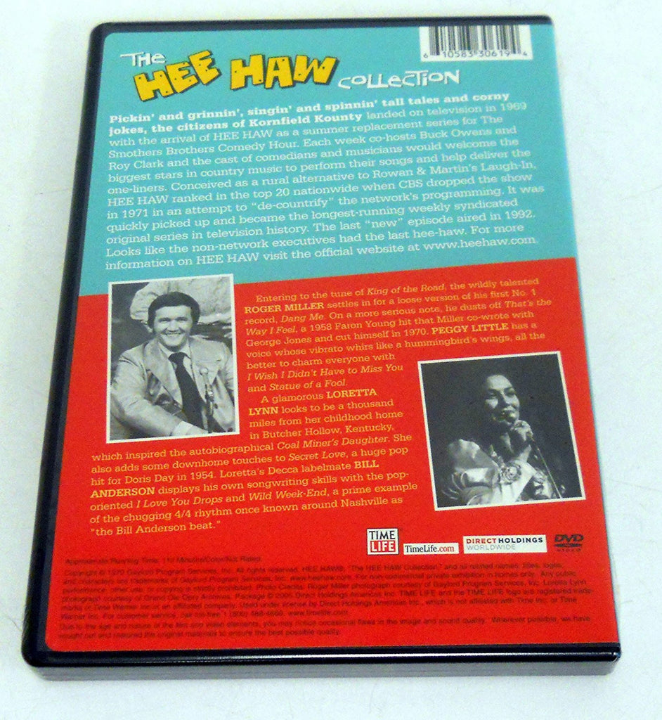 The Hee Haw Collection - Episodes 45 & 48 (Loretta Lynn, Roger Miller, Bill Anderson, Peggy Little)-DVD-Palm Beach Bookery