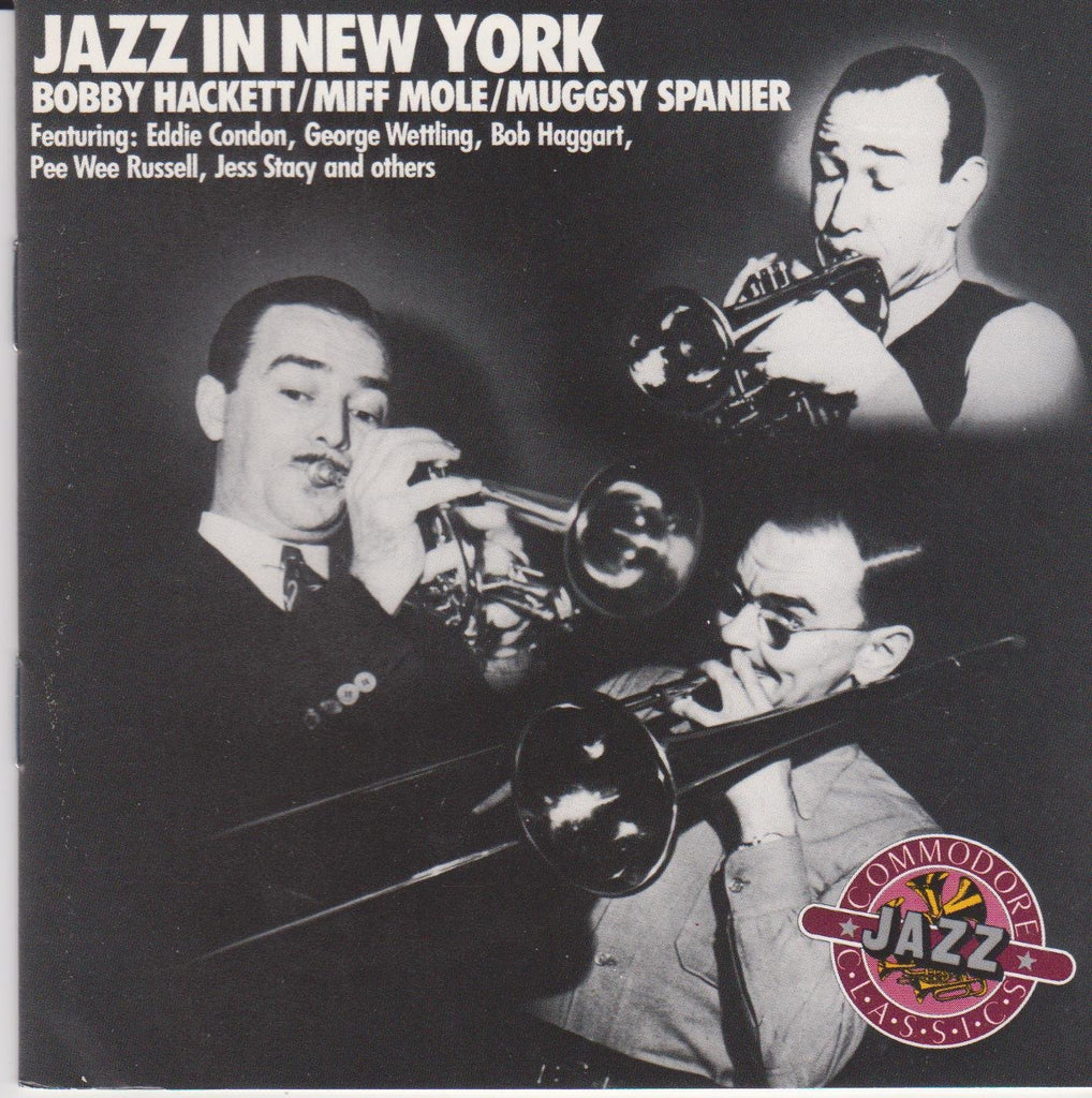 Bobby Hackett, Miff Mole, Muggsy Spanner - Jazz in New York-CDs-Palm Beach Bookery