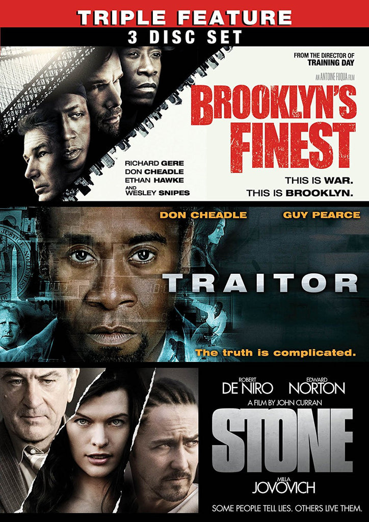 Brooklyn's Finest / Traitor / Stone (Three-Pack)-DVD-Palm Beach Bookery