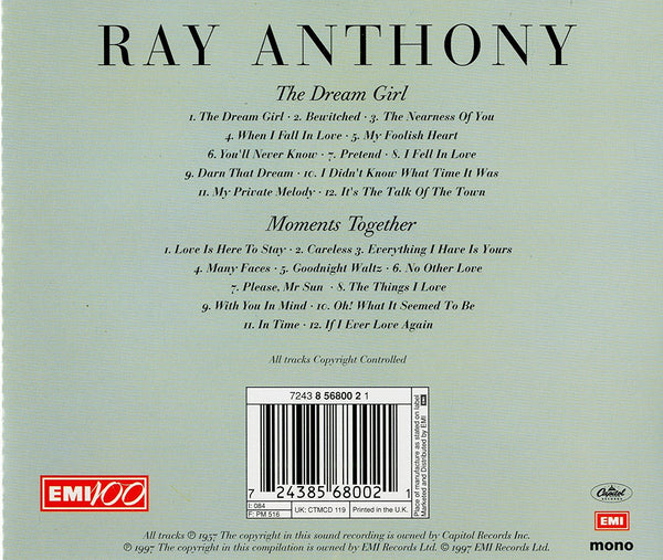 Ray Anthony - Dream Girl/Moments Together-CDs-Palm Beach Bookery