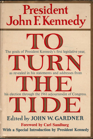 To Turn The Tide By: John F. Kennedy - Edited By John W. Garfner-Book-Palm Beach Bookery